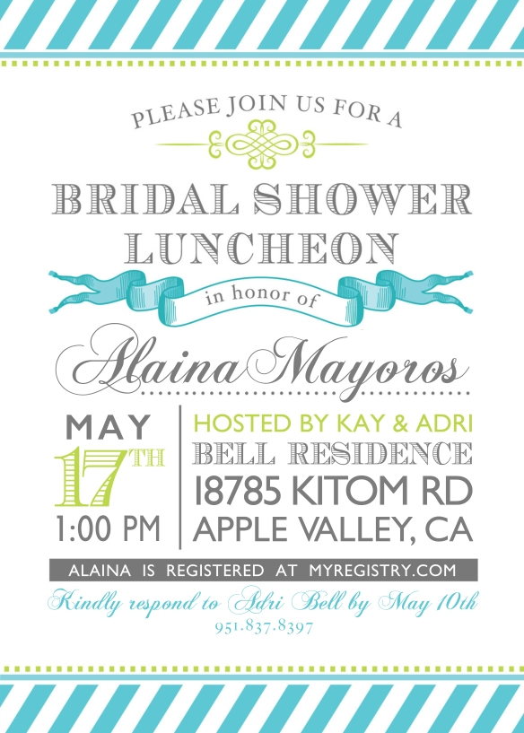 Bridal Shower Invite 2014