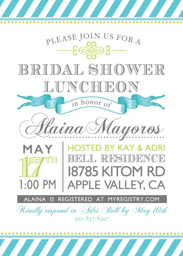Bridal Shower Invite 2014